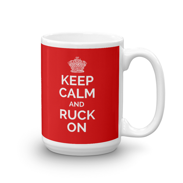 Keep Calm and Ruck On Mug - Saturday's A Rugby Day