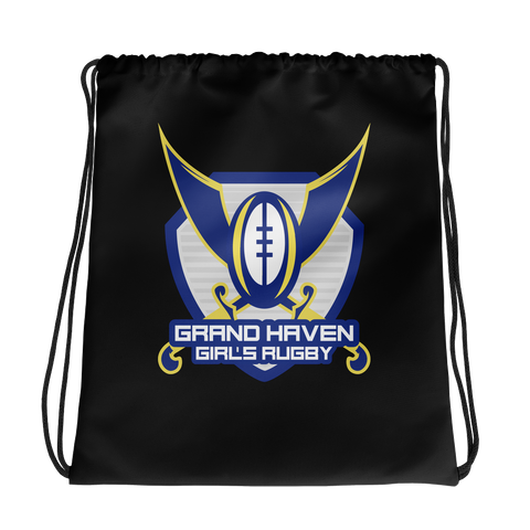 Grand Haven Girls Rugby Drawstring bag - Saturday's A Rugby Day