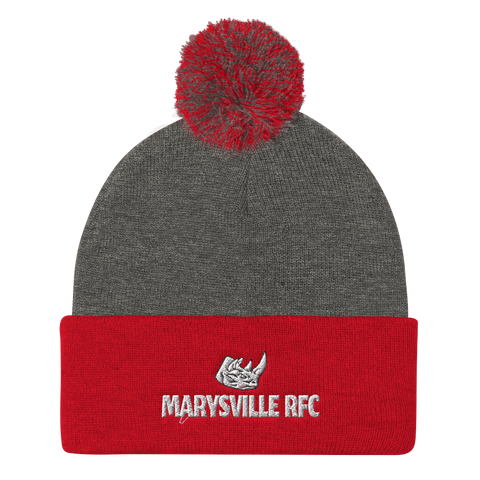 Marysville Pom Pom Knit Cap - Saturday's A Rugby Day