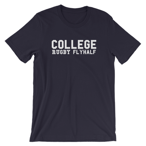 College - Rugby Fly-Half - Short-Sleeve Unisex T-Shirt - Saturday's A Rugby Day