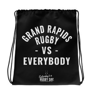Grand Rapids Rugby - VS - Drawstring bag - Saturday's A Rugby Day