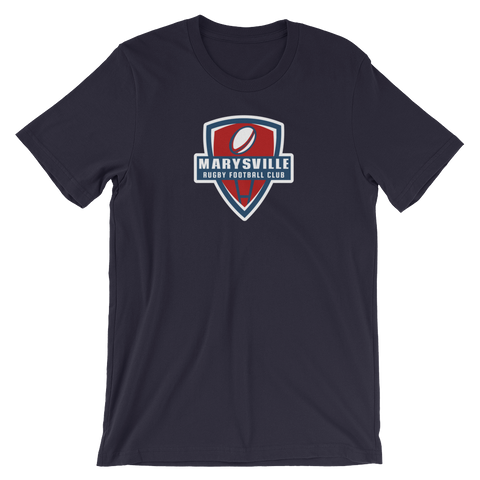 Marysville Rugby Shield Short-Sleeve Unisex T-Shirt - Saturday's A Rugby Day