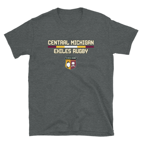 Central Michigan Exiles Color Bar Short-Sleeve Unisex T-Shirt