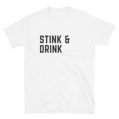 Stink & Drink w/ CMU Back Short-Sleeve Unisex T-Shirt