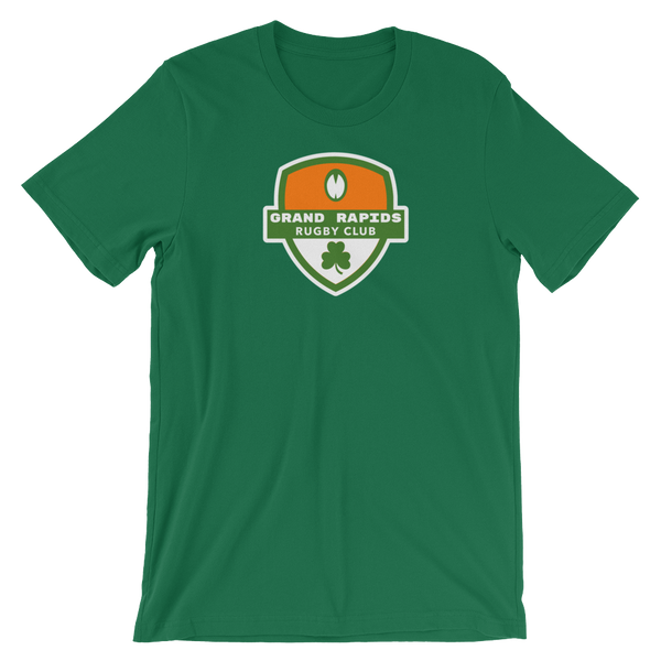 Grand Rapids Shamrock Crest Short-Sleeve Unisex T-Shirt
