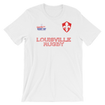 Louisville Rugby Jersey Style Short-Sleeve Unisex T-Shirt - Saturday's A Rugby Day