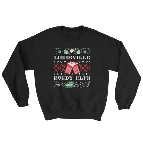 Louisville Rugby Club Ugly Christmas Sweatshirt - Saturday's A Rugby Day