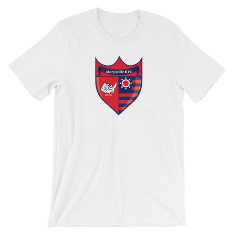 Marysville Team Shield Short-Sleeve Unisex T-Shirt - Saturday's A Rugby Day