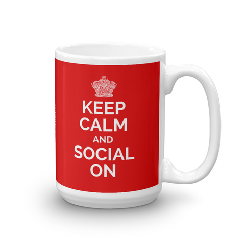 Keep Calm and Social On Mug - Saturday's A Rugby Day