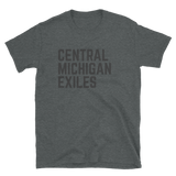 Central Michigan Exiles Text Short-Sleeve Unisex T-Shirt