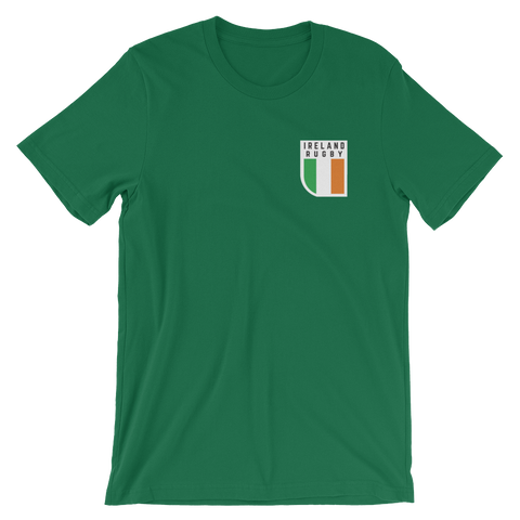 Ireland Rugby Crest Short-Sleeve Unisex T-Shirt - Saturday's A Rugby Day
