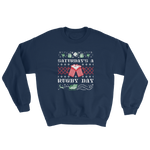 Saturday's a Rugby Day Ugly Christmas Sweatshirt - Saturday's A Rugby Day