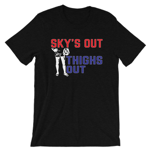 Sky's Out, Thighs Out Short-Sleeve Unisex T-Shirt