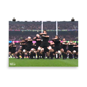 Haka Poster - Saturday's A Rugby Day