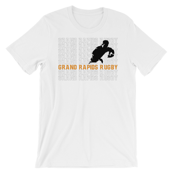 Grand Rapids Rugby Repeat Short-Sleeve Unisex T-Shirt - Saturday's A Rugby Day