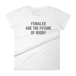 Females are the Future of Rugby - Short sleeve t-shirt - Saturday's A Rugby Day