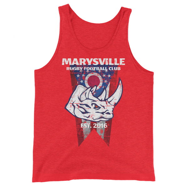 Marysville Rhino with Ohio Flag Unisex Tank Top