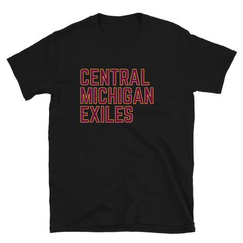 Exiles Text Team Color Short-Sleeve Unisex T-Shirt