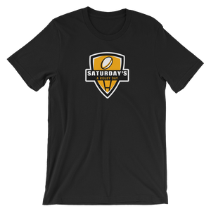 Saturday's a Rugby Day Black and Yellow Short-Sleeve Unisex T-Shirt