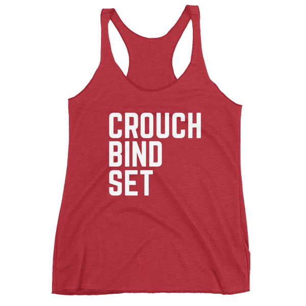 Women's Crouch Bind Set Racerback Tank - Saturday's A Rugby Day