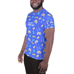 Summer Lovin' All-Over Print Men's Athletic T-shirt - Saturday's A Rugby Day