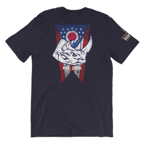 Rhino with Ohio Flag Short-Sleeve Unisex T-Shirt