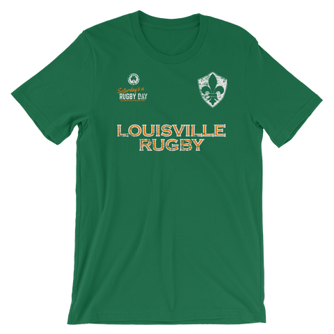 Louisville St. Pats Jersey Style Short-Sleeve Unisex T-Shirt - Saturday's A Rugby Day