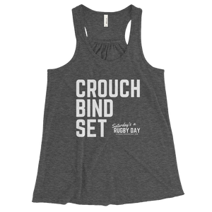 Women's Flowy SARD Racerback Tank - Saturday's A Rugby Day