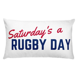 SARD Rectangular Pillow - Saturday's A Rugby Day