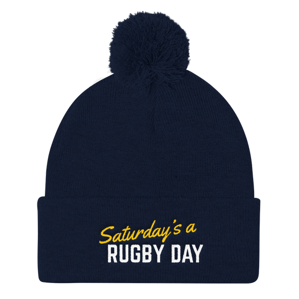 SARD Pom Pom Knit Cap - Various Colors - Saturday's A Rugby Day