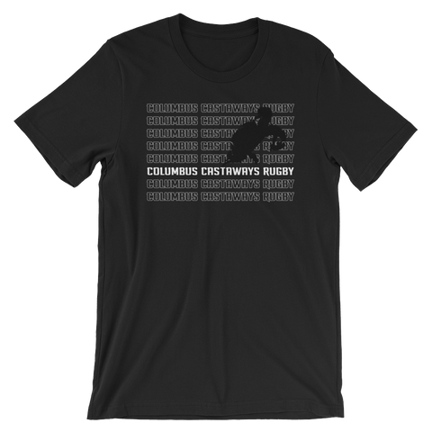 Columbus Castaways Rugby Repeat Short-Sleeve Unisex T-Shirt - Saturday's A Rugby Day