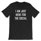 Just Here for the Social - Short-Sleeve Unisex T-Shirt - Saturday's A Rugby Day