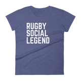 Rugby Social Legend - Women's short sleeve t-shirt - Saturday's A Rugby Day