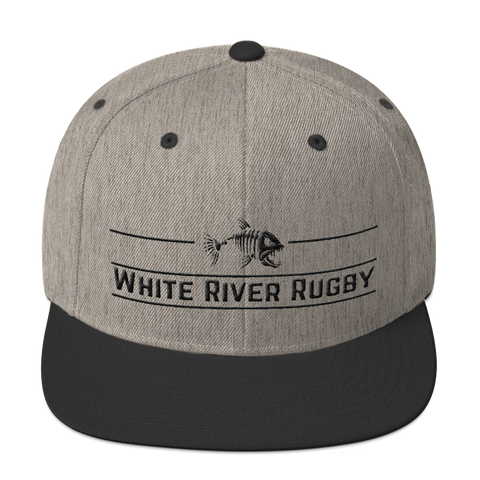 White River Game Bar Snapback Hat - Saturday's A Rugby Day