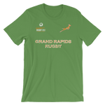 Grand Rapids Rugby St. Pats Jersey Style Short-Sleeve Unisex T-Shirt - Saturday's A Rugby Day