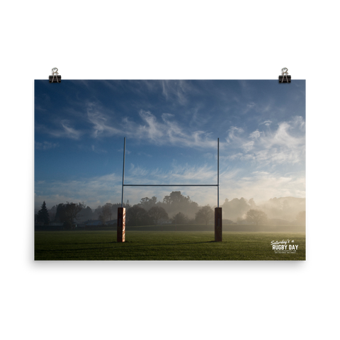 Uprights Poster - Saturday's A Rugby Day