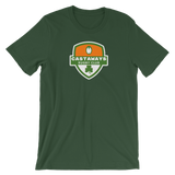 Castaways Shamrock Crest Short-Sleeve Unisex T-Shirt - Saturday's A Rugby Day