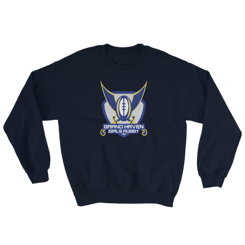 Grand Haven Girls Rugby Crew-neck Sweatshirt - Saturday's A Rugby Day