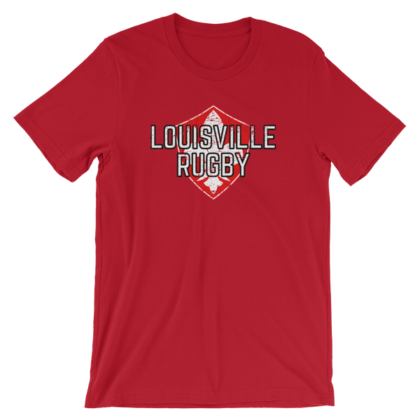 Louisville Rugby Fade Crest Short-Sleeve Unisex T-Shirt - Saturday's A Rugby Day
