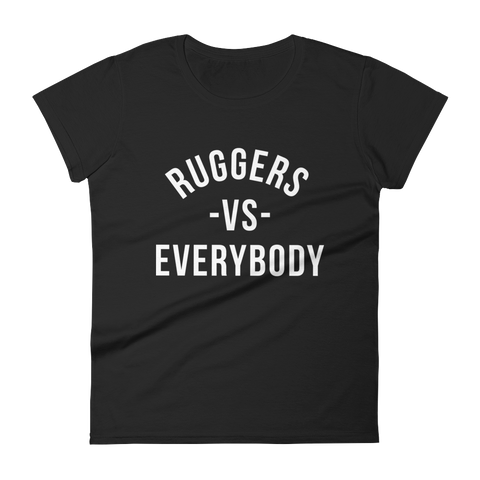 Ruggers -VS- Everybody Women's short sleeve t-shirt - Saturday's A Rugby Day