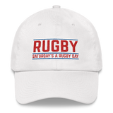 Game Bar style - Dad hat - Saturday's A Rugby Day