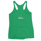 Ruckin' Lucky Women's Racerback Tank - Saturday's A Rugby Day