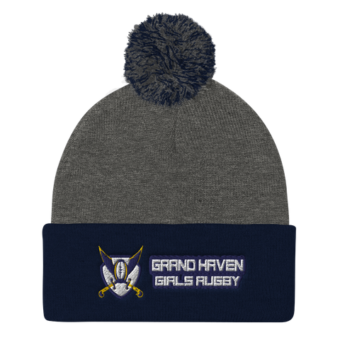 Pom Pom Knit Cap - Saturday's A Rugby Day