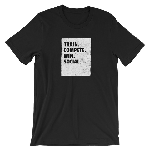 Train. Compete. Win. Social. - Short-Sleeve Unisex T-Shirt - Saturday's A Rugby Day