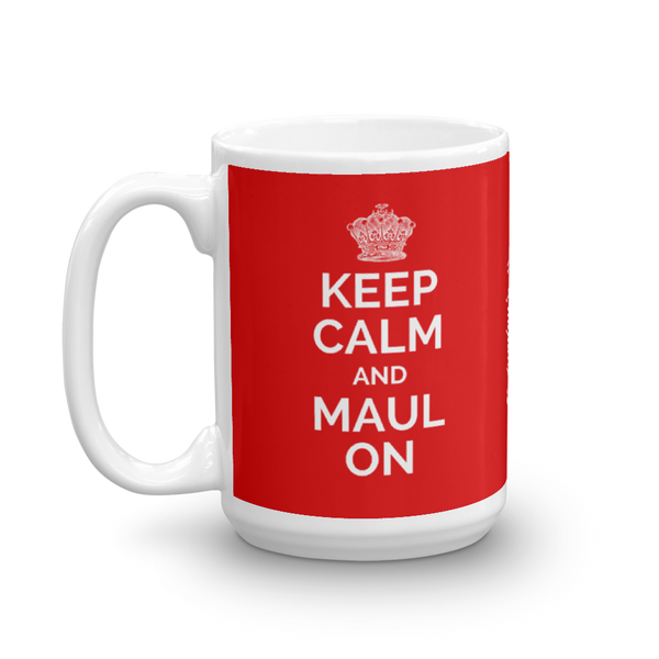 Keep Calm and Maul On Mug - Saturday's A Rugby Day