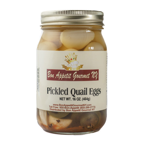 Spicy Pickled Quail Eggs Wt. 16 oz. by Bon Appetit Gourmet NY