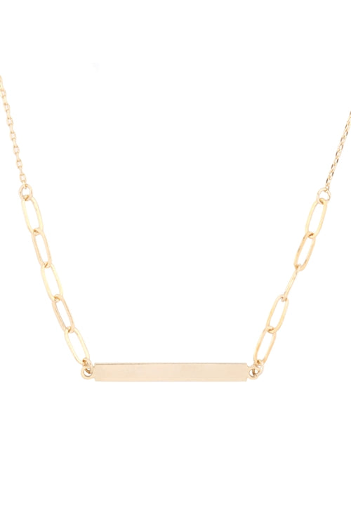 Bar Pendant Necklace - Gold
