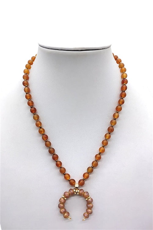 Autum Crescent Necklace
