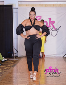 Plus size Tie Up Bubble Pant set