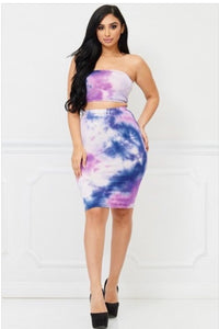 Purple  Tie Dye 2 Piece Set